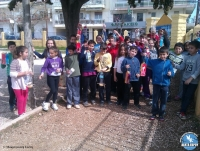 Making bird feeders in 1st Primary School of Alexandroupolis
